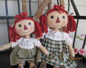 Big and Little Sister Raggedy Ann