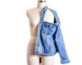 Vtg LEE Cut Out Over Size Jacket size L