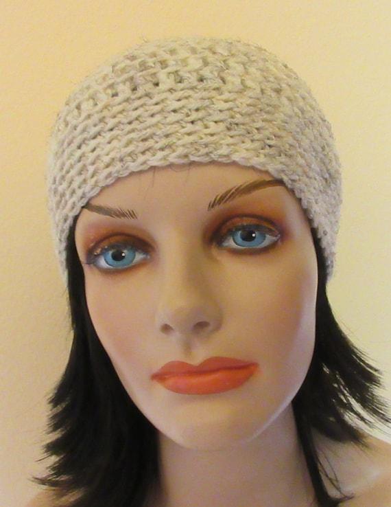 Cream Crocheted Beanie, Cold Weather Accessory, Men's Winter Hat, Women's Crochet Hat, Cream Snow Hat, Hockey Rink Hat, Snow Playing