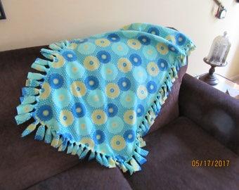 Fleece Blanket Floral Stretch Fleece Throw or Lap Blanket or Dog Blanket from Darlas Closet