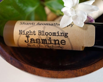 Night Blooming Jasmine Roll On Pefume - Romantic Perfume - Uplifting Perfume