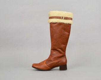 Faux Sheepskin Winter Boots (US 9)