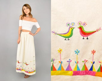 Embroidered Mexican Maxi Skirt