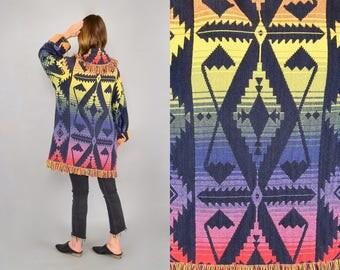 Southwestern Blanket Coat