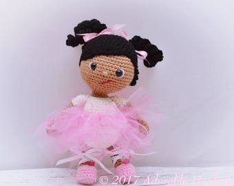 Ballerina Doll, Crochet Ballerina Doll, Baby Doll, Stuffed Toy, MADE TO ORDER