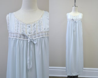 1970s Barbizon Satin Night Gown