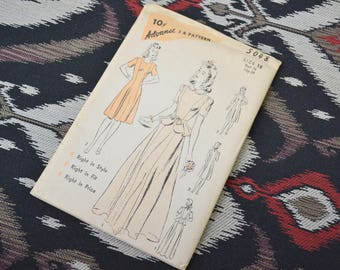 1940s Advance Dress Pattern, #5048, Size 18 (36 Bust, 39 Hip, 30 Waist)