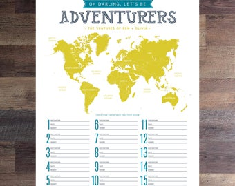 Oh Darling, Let's Be Adventurers Poster // Digital File | WORLD