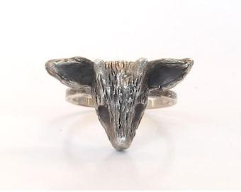 Handmade Silver Jewelry, Silver Deer Ring, Deer Jewellery, Woodland Animals, Woodland Jewelry, Animal Rings, Reindeer Ring