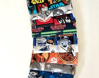 Stars wars Bundle of 10 Fat Quarters, Star Wars fabric 100% cotton for Quilting and general sewing projects.