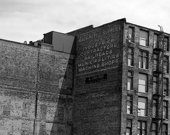 Omaha Photography Black and White Photography Sketch, Urban Decor