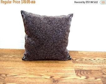 Vintage Brown Beaded Metallic Square Pillow  Online Vintage, vintage clothing, home accents, vintage dress