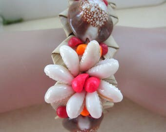 "Hawaiian Sea Shell Bracelet for Arm or Leg-9"" Long-Vintage-Very Good Condition"