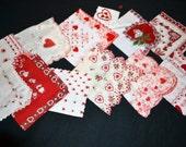 Vintage Sweetheart Red Handkerchief Collection of Twelve