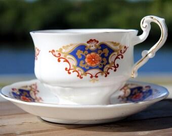 Vintage Teacup and Saucer - Vintage Tea Cup, Bone China 13854