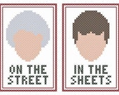 "Set of Two Original ""Dorothy on the Street"" Cross Stitch Charts"