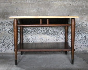 Mid Century Modern... Antique Lane Acclaim Mid Century Modern, Walnut and Oak, Danish Dovetailed, Coffee Table