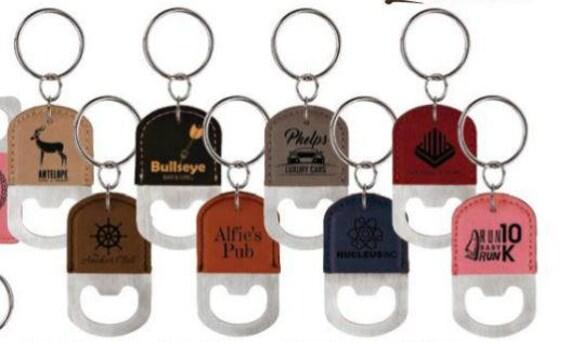 engraved leather keychain bottle opener leather keychain. Black Bedroom Furniture Sets. Home Design Ideas