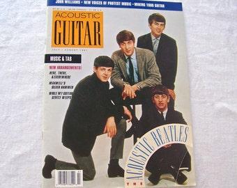 Vintage Acoustic  Beatles The Beatles John Paul George Ringo Beatle Memorabilia Acoustic Guitar Magazine 1991