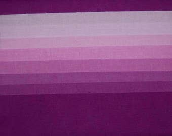 Fat Quarter Set, PURPLE PURPLE, 8 Step Hand-Dyed Gradation, Pre-Shrunk & Colorfast, 20x21 In each