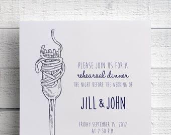 Wedding Rehearsal Invitation, Italian Dinner Invite, Spaghetti Dinner, Rehearsal Dinner, Pasta Invitation, Italian Event, JPEG, Printable