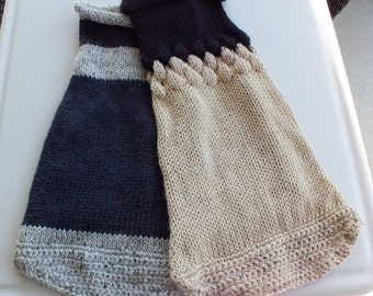 SPECIAL SALE Two hand knit dog sweaters for the price of one size large