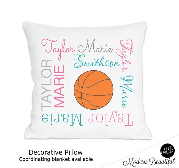 Basketball name pillow for in pink and purple personalized baby il570xn negle Gallery