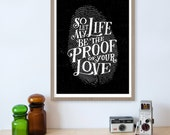 For King and Country, Proof of Your Love, Fingerprint, Lyrics Print, Christian Wall Art, Christian Song Lyrics, Jesus Loves, Quote Print
