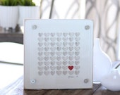 Unique Wedding gift, First Anniversary Paper Gift -  ee cummings i carry your heart, 3d Song Lyric Hearts, framed song lyrics, personalized