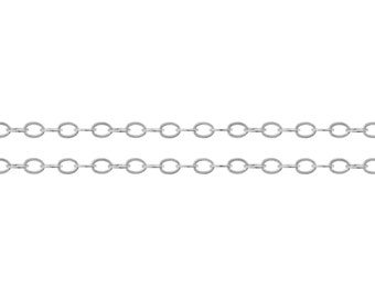 Sterling Silver 2.2 x 1.6mm Flat Cable Chain - 100ft   Lowest Price 40% Discounted (2351-100)/1