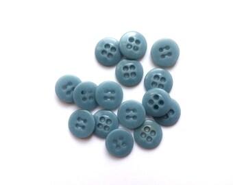 5 Pastel Blue Vintage Buttons