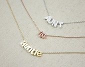 Auntie Necklace | Aunt | Tia | Auntie Gift | Gift for Her | Sister | New Baby | Baby Shower | Pregnancy Reveal | Mother's Day Gift