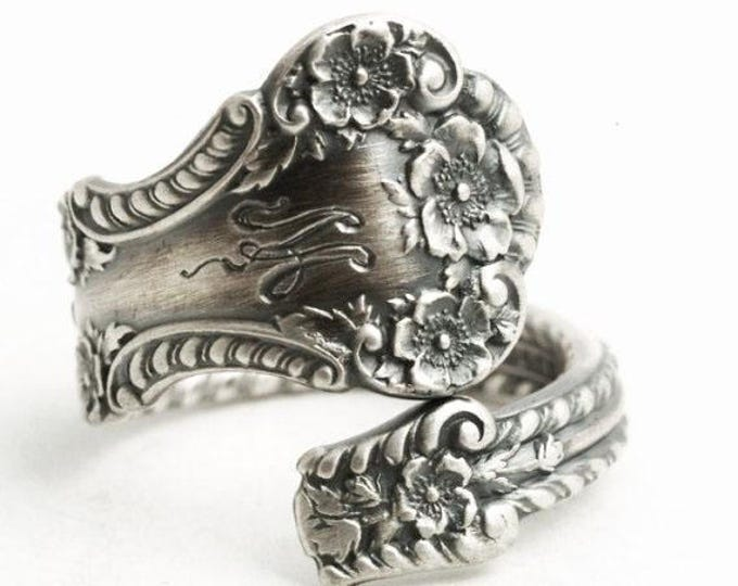 Buttercup Ring, Small Flower Ring, Floral Spoon Ring Sterling Silver, 925 Antique Gorham Cambridge 1899, Custom Ring Size 3 4 5 6, M (6510)