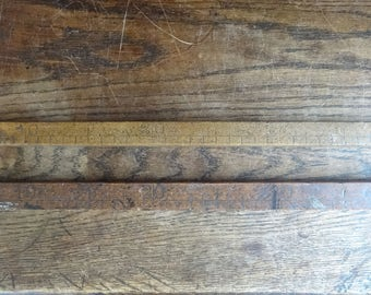 Vintage French yardstick metre stick shopkeeper teacher architects ruler 100 cm scale measure measuring circa 1900-30's / English Shop