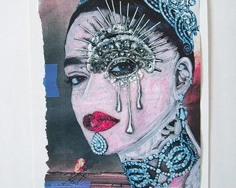 Rihanna >>NY Artist Micci Cohan Contemporary Original Acrylic Painting on Paper / Rihanna / Musician Portrait / Singer / Celebrity Painting