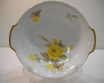 """Cotillion By Japan Yellow Rose China Serving Bowl 8 1/2"""" Vintage 1950's Free Shipping"""