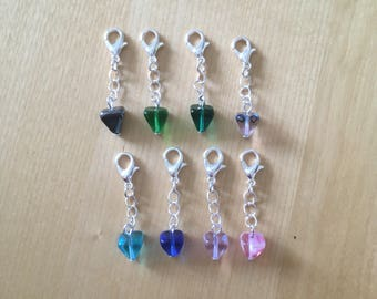 Your choice of ONE pendulum charm, zipper pull or bracelet extender