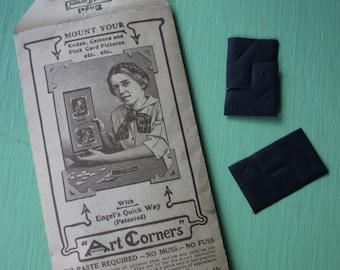 Vintage Photo Art Corners - Engel, Black,  Vintage Package, Corner, 100 Corners. Scrapbook