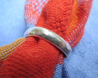 Finger Shape, Comfort Fit Heavy Sterling Band Ring, Size 6