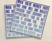when you've worked hard | Michelle Obama First Lady quote vinyl sticker