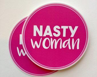 nasty woman anti-Trump vinyl bumper sticker