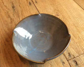 Blue Ceramic Serving Bowl