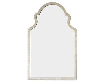 moroccan Bone Wall Mirror, Ivory