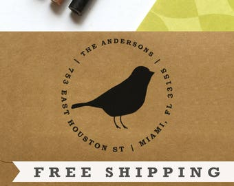 Return Address Stamp, Custom Stamp, Personalized Stamp, Self Inking Stamp, Rubber Stamp, Save the Date Stamp - No. 04
