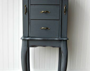 Charcoal Gray Jewelery Armoire