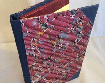 "Tablet Cover for 5"" x 8"" legal pad. Elegant marbled paper cover. Made from new and recycled materials."