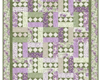 Quilt Pattern - City Lights Spring - Beautiful Pattern makes sizes Crib to King - HARD COPY VERSION
