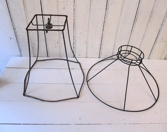 2 Wire Lampshade Forms - Vintage Lampshade Cages