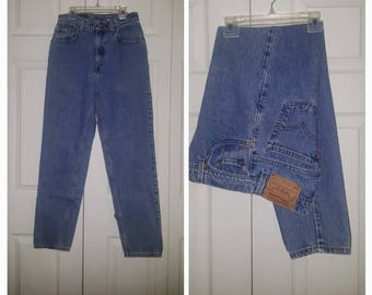 Can't drive 55 ... vintage 80s Levis 550 jeans / high rise waist waisted / 1980s denim / mom hipster grunge retro skinny  .. waist 26