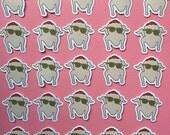 Friends Turkey Dance Vinyl Sticker